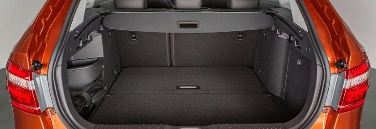 Размеры багажника Лада Веста SV и SV Cross. Объем и габариты.