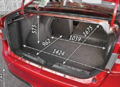 Размеры багажника у лада веста
