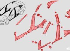 Как снять облицовки, накладки салона на Лада Веста