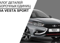 Артикулы и каталожные номера Lada Vesta Sport