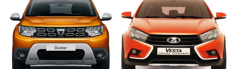 Сравнение LADA Vesta SW Cross и Renault Duster